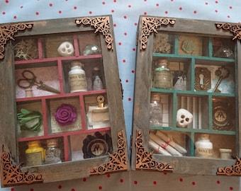 Mini Curio Cabinet (wizard themed)