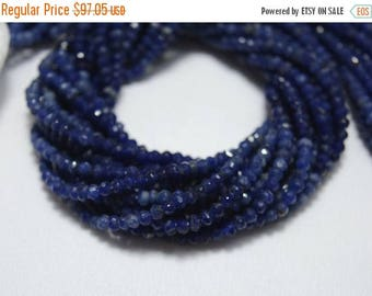 40% Discount 5 Strands Sodalite Rondelle Beads, Sodalite Gem Stone, 3 mm Beads, Faceted Rondelle, Gemstone Beads, 13.5 Inch