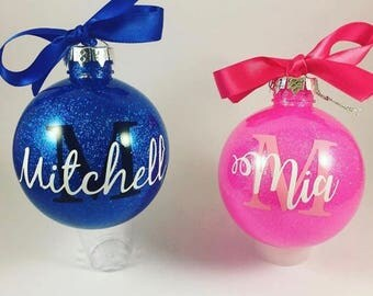 Shatterproof Bauble, Personalised Christmas Bauble, Name Bauble, Christmas Tree Decoration, glitter name baubles, Personalised tree Ornament