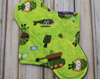"9"" regular cloth pad/ incontinence pad/ mama cloth/ military / Made by Mother"
