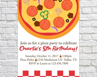 Printable Pizza Party Birthday Invitation, Pizza invitation, Birthday Invite, Kid's Birthday, Birthday Party, Pizza invite, pizza birthday