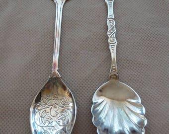 Antique Silver plate sugar spoons