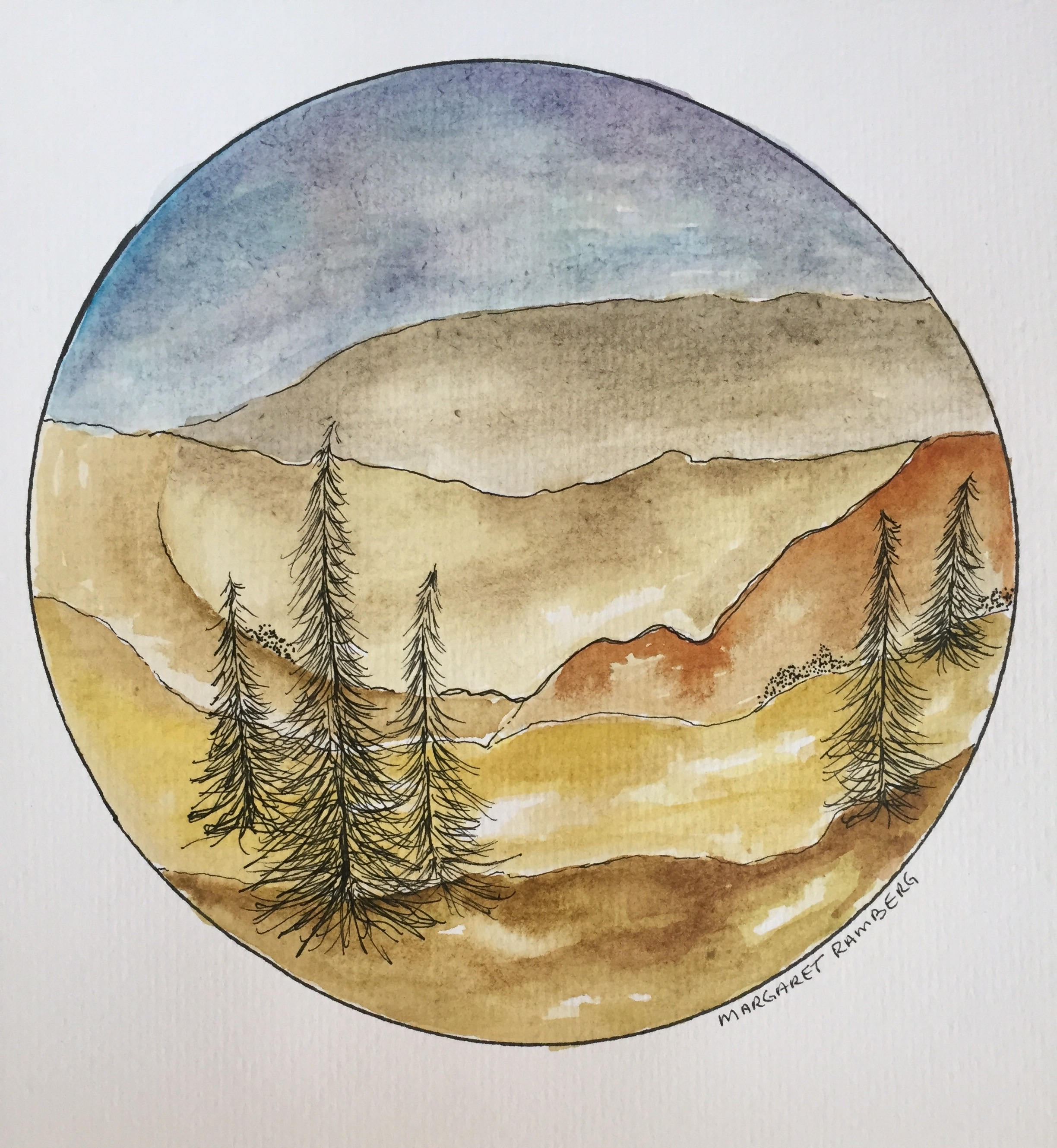 Watercolor & Ink Painting
