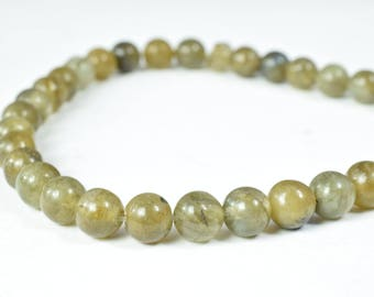 Labradorite Gemstone Round Stone Beads 6mm/8mm/10mm/12mm Faceted Green birthstone healing natural loose gemstone for jewelry making#0096