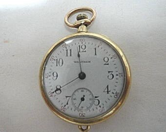 1913 Waltham Pocket Watch 15 Jewel 0 Size 31mm 25 Year Gold Filled Case Running