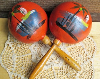 Vintage Percussion | Handmade Maracas | Made in Mexico | Music Decor
