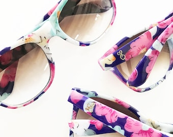 Monogram Floral Sunglasses -  Bridal Party -  5 pieces