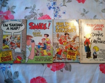 Family Circus and Dennis the Menace Vintage Books (four books) (Free Shipping!)
