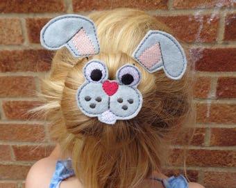 Bunny Bun Pal / Pony Tail Pal - Hair Accessory - Hair Clip - Barrette - Fascinator - Hair Slide - Hair Grips - Wings - Faery Wing- Easter