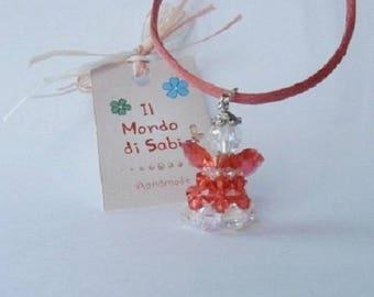 Swarovski crystal Angel, handmade pendant