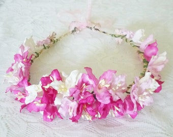 Lily crown Flower headpiece Flower headband  /Flower headband /Flower headpiece /Flower hair wreath party flower LL3