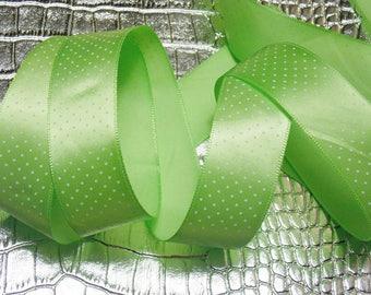 Pitch green satin ribbon