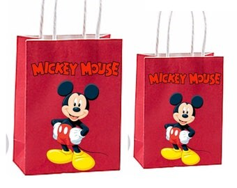 Mickey mouse Party Favor Bag~ mickey mouse birthday party Inspired Decorations & Decor instant download