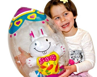 "19"" Inflatable Easter Egg with Bunny"