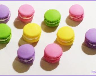 10 macaroons Fimo - pastel beads