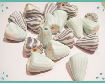 ♥ 19 charms berlingots ♥ polymer clay Fimo beads
