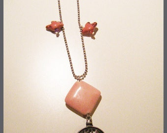 Necklace bird watch clock ♥ ♥