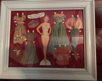 June Allyson framed paper doll set