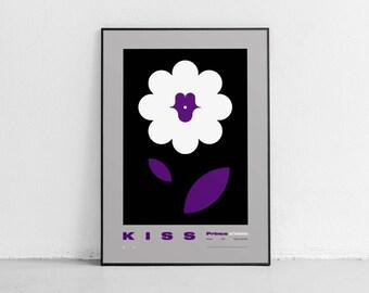 KISS. Wall art. Prince Tribute. Original poster. High quality giclée print. signed by designer.