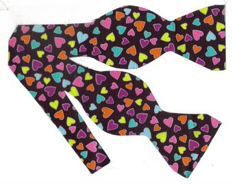 valentines day bow tie small hearts on brown valentine bow ties bow ties