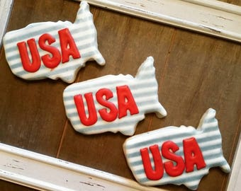 USA - United States - July 4th Cookies