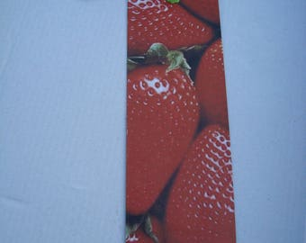 Bookmark paper fruits Strawberry