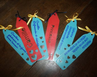 Personalized and laminated bookmarks