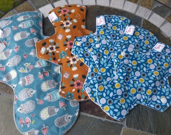 5 Organic Cloth Pads - Sampler Pack