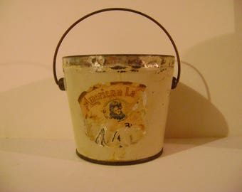 Old American Lady Peanut Butter Tin