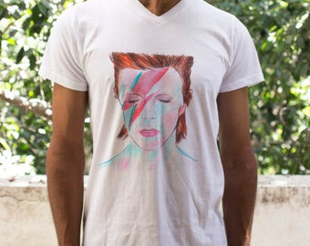 Fathers day shirt, Fathers day t shirt, Dad shirt, Dad T shirt, David Bowie T shirt, David Bowie Shirt men, David Bowie tshirt,Gifts for dad