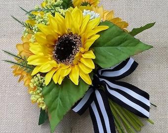 Sunflower Bridesmaid Bouquet