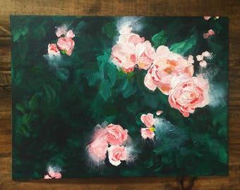 Painting - Peach & Leaf