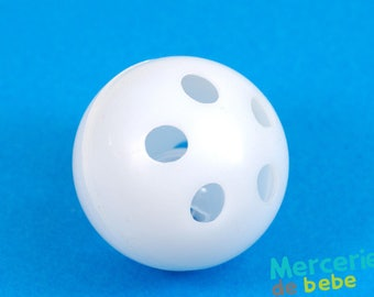 Foley ball for baby toys: rattle - 3.8 cm diameter - white