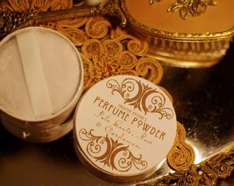 Perfume Powder by Theater Potion Natural Bath Powder, dusting powder, essential oils, natural dusting powder