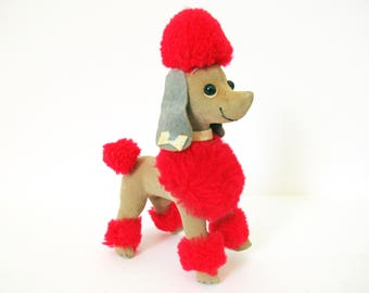 Dream Pets Poodle,  Dream Pet BonBon Poodle, Dakin Japan Miniature Velveteen Stuffed Animal, Nursery Playroom Decor, Vintage Dakin & Company