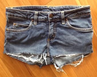 CARHARTT shorty shorts denim cut offs Size 25