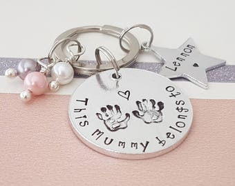 this mummy belongs to keyring, new mum gift, mum gift, women's gift, personalised keyring, gift for her, mummy keyring, mothers day gift