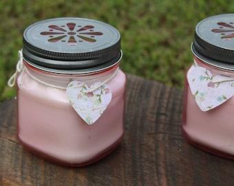 Mini Tinted Mason Jar Candle- White Tea and Berries