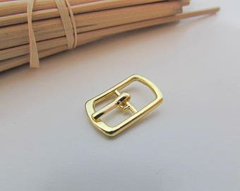 5 small belt buckle for strap max 8mm - gold metal - 1.8 x 1.2 cm - 20.52
