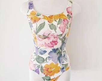 Vintage Floral Swimsuit