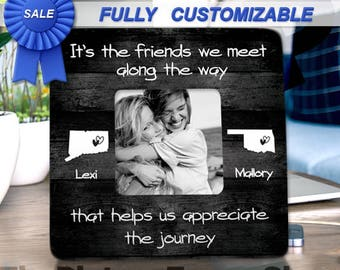 Friendship Gifts For Friends Long Distance Friendship Best Friend Gift Ideas Best Friend Birthday Gift Best Friend Frame Create Your Own