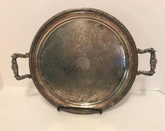 Vintage Silver Serving Tray