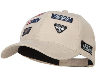 Suede Baseball Cap with 7 Labels