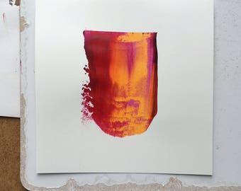 Minimalist acrylic painting on paper