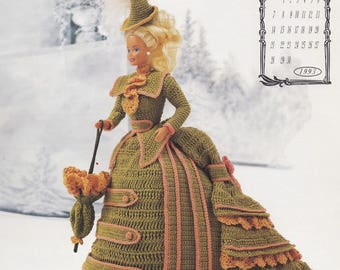Miss November 1993, Annie's Victorian Lady Centennial Crochet Doll Clothes Pattern Booklet 7611