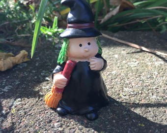 Miniature Child Halloween Witch, Fairy Garden Witch, Halloween Witch, Halloween Decor