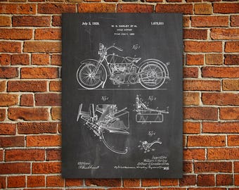 Harley Art Canvas painting, Model JD Patent, Model Jd Poster, Harley Wall Decor, Davidson Decor, Harley Poster, Harley Jd, Model Jd