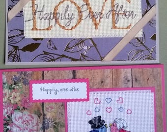 Happily Ever After. Cross Stitch Greeting Card.