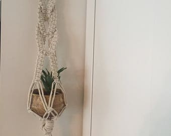 Macrame plant wall hanging