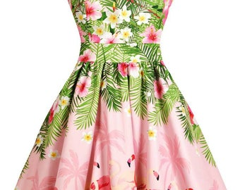 Vestido fiesta años 50